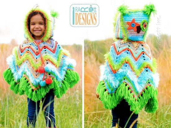 Owl Crochet Poncho Paid Pattern