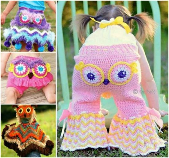 Owl Crochet and Knitted Clothing Patterns