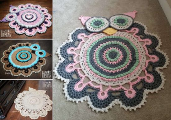Owl Doily Rug Crochet Patterns
