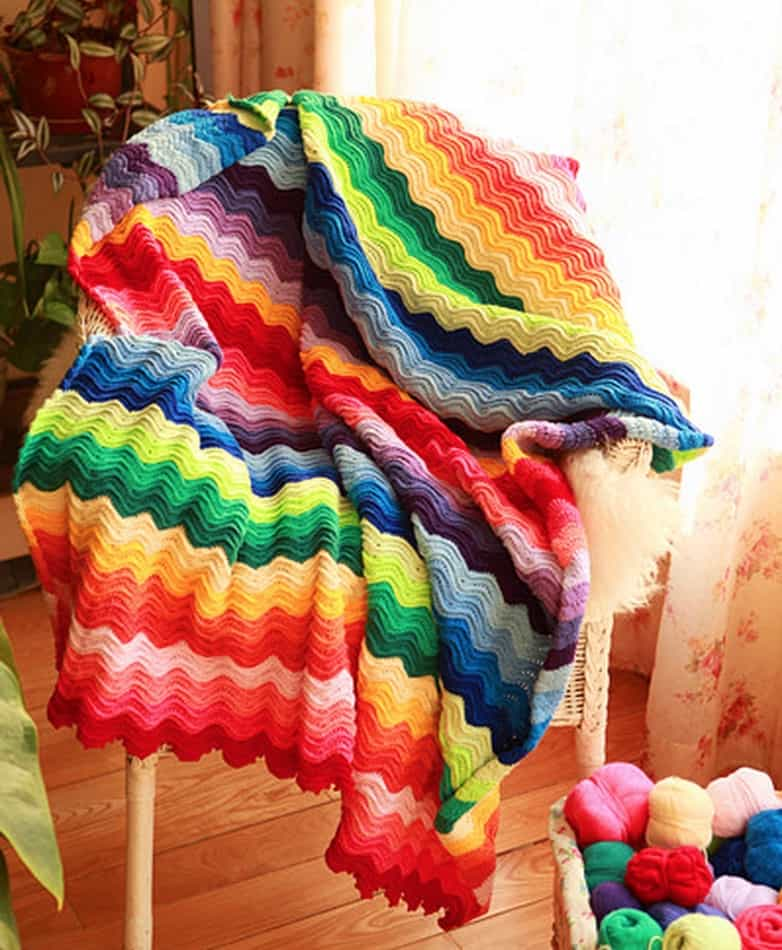 Rainbow Ripple Free Crochet Pattern