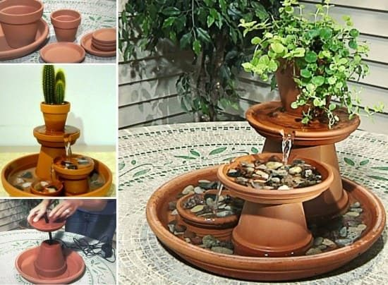 Table-Top Terracotta Fountain