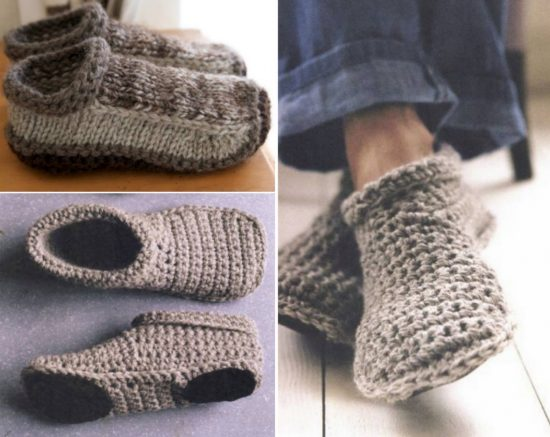 Crochet and Knitted Slippers Patterns