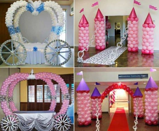 Cinderella Balloon Carriage And Turret Castle Decorations Perfect For Your Party