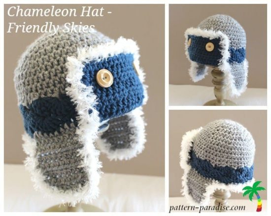 Crochet Aviator Hat Free Pattern
