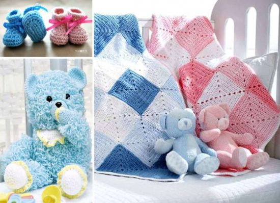Crochet Baby Diamond Blanket Free Pattern