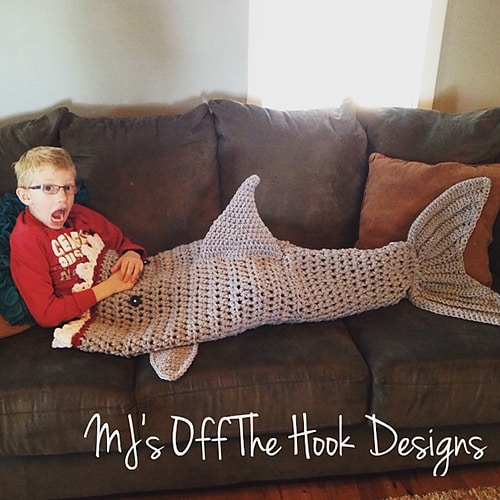 Crochet Shark Blanket Pattern