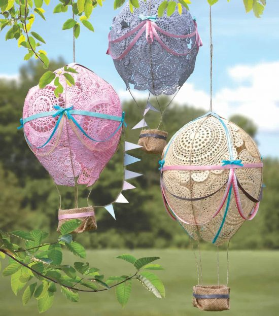 Doily Hot Air Balloons