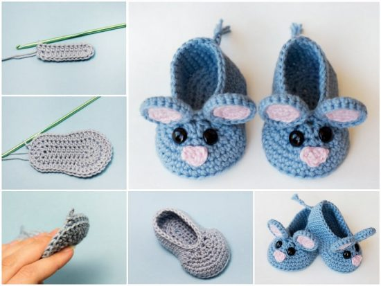 Field Mouse Crochet Booties Free Pattern