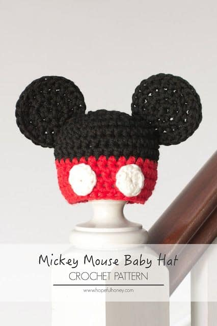 ... Mickey Mouse Baby Hat Free Crochet Pattern 41c13bb24c8