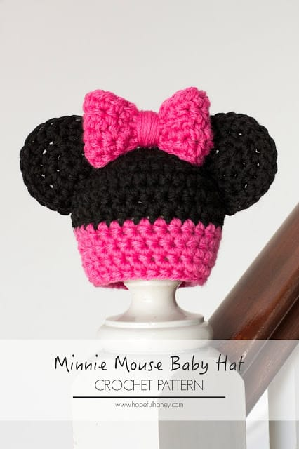 Minnie Mouse Crochet Baby Hat Free Pattern