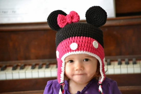 get pattern —  Mickey and Minnie Mouse FREE Crochet Hat Patterns eb7768ca7d8