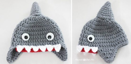 Shark Crochet Hat Free Pattern