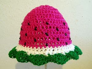 Watermelon Hat Free Crochet Pattern