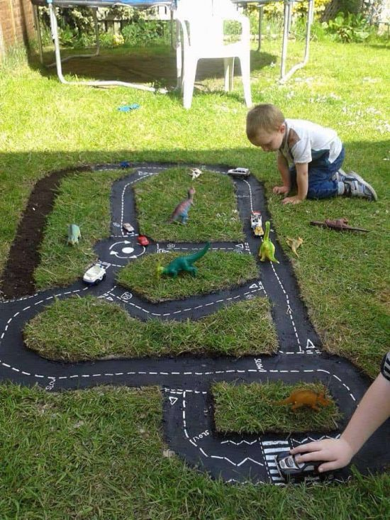 Backyard Race Car Track