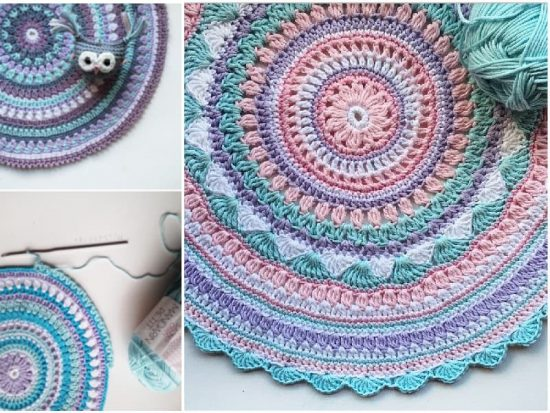 Crochet Mandala Rug Pattern Artistic DIY Ideas Video Tutorial Unique Mandala Yarn Patterns