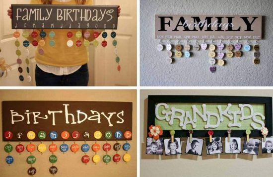 Family Calendars : Wooden family calendar birthday wall hanging video tutorial