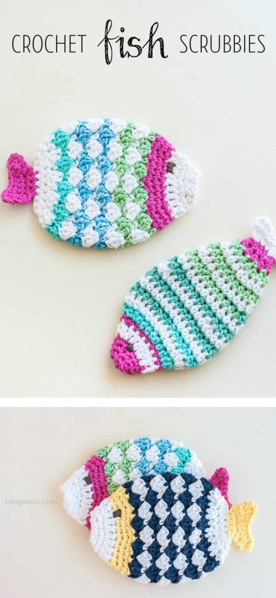 Fish Scrubbies Free Crochet Pattern
