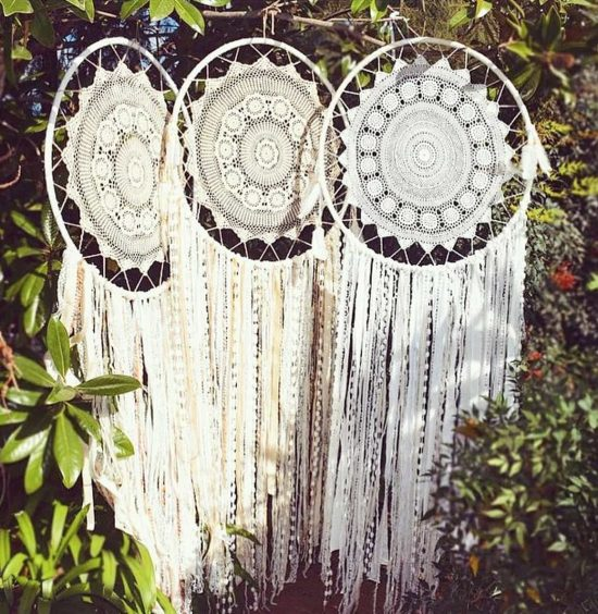 Giant Doily Dream Catchers