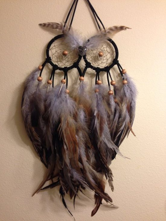 Gray Owl Dream Catcher