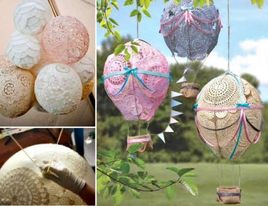 Hot Air Doily Balloons