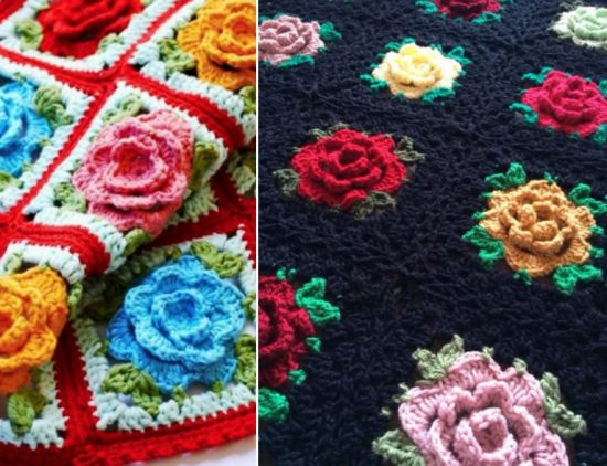 rose granny square tutorial
