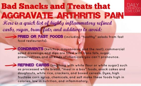 Snacks and Foods that Aggravate Arthritis