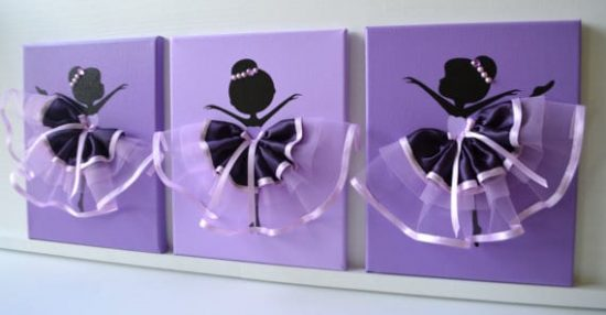 Ballerina Canvas Wall Art
