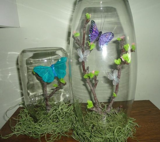 Butterfly Jar Terrarium Craft Tutorial