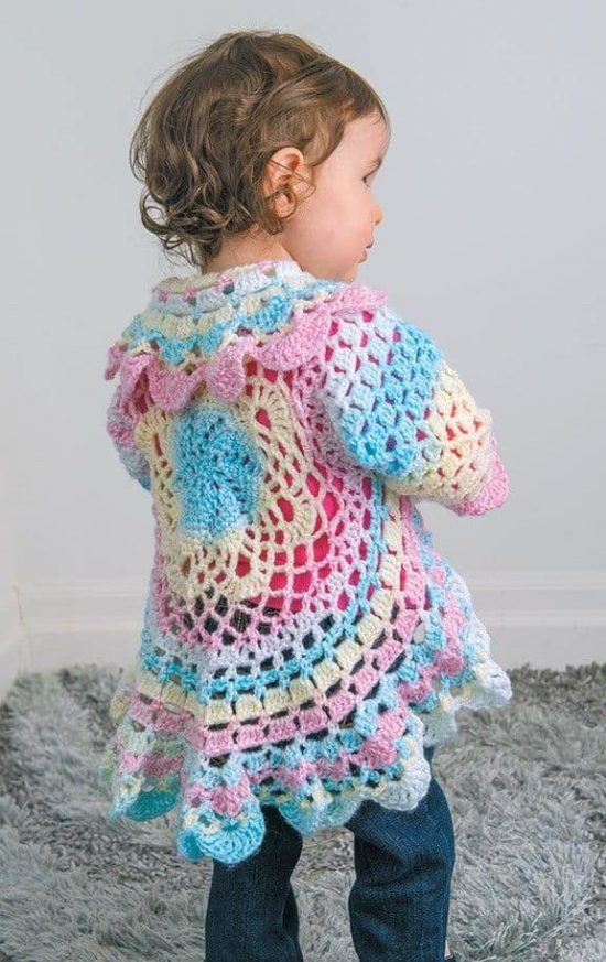 Crochet Circular Jacket Pattern Free Pinterest Best Ideas
