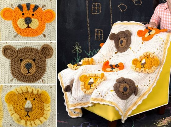 Crochet Lion Bear Tiger Free Crochet Pattern