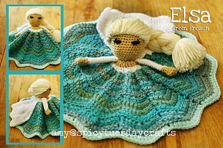 Elsa Princess Lovey FREE Crochet Pattern