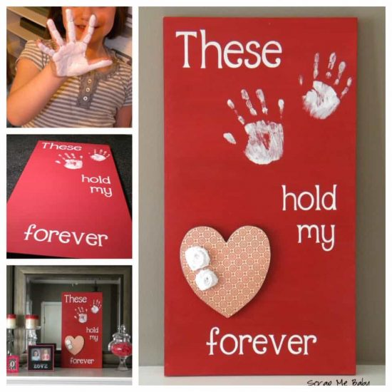 Hand And Foot Print Love Sign Is Super Cute The Whoot