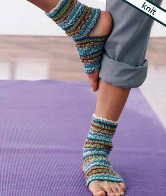 Knitted Yoga Socks FREE Pattern