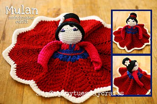 Mulan Princess Lovey FREE Crochet Pattern