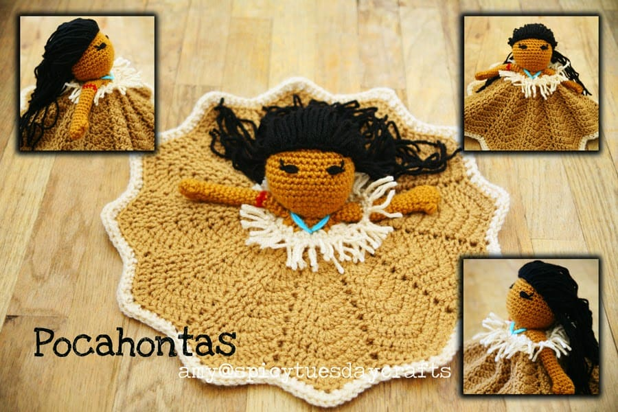 Pocahontas Princess Lovey FREE Crochet Pattern