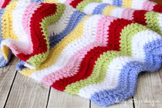 Rainbow Chevron Blanket Free Crochet Pattern