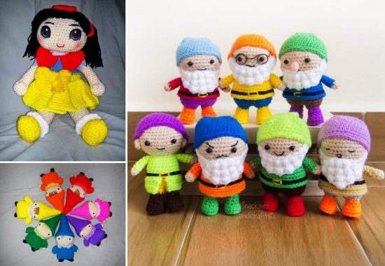 Snow White and the Seven Dwarves Free Crochet