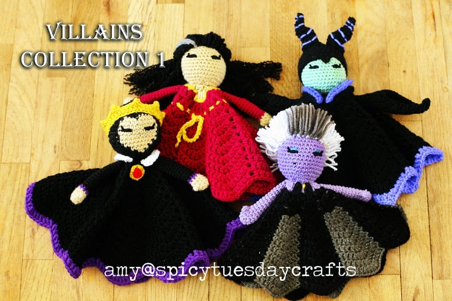 Villains Lovey Blankets Crochet Patterns