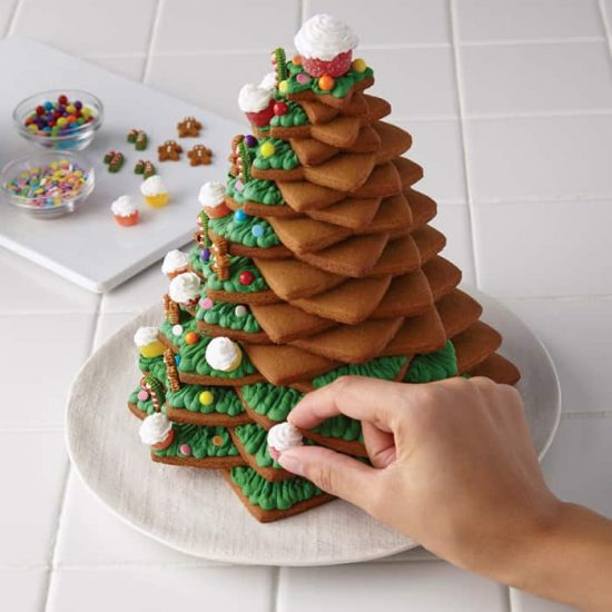 3D Christmas Tree Cookies Step 3