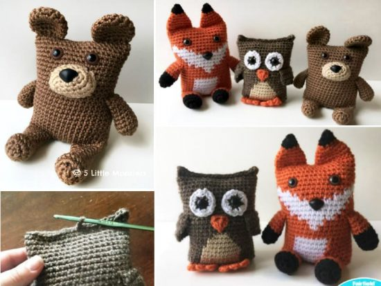 Boxy Bear Boxy Owl Boxy Owl Free Crochet Patterns