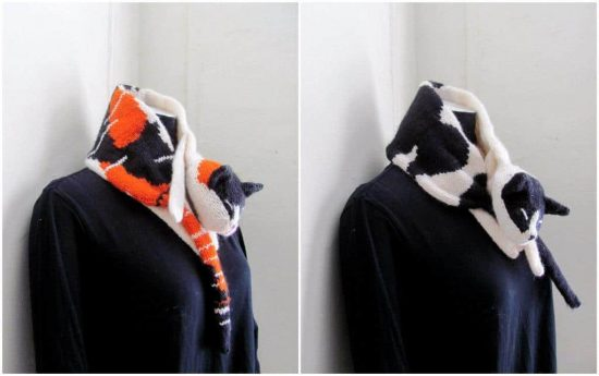 Knitted Cat Scarf Pattern Free Video Tutorial