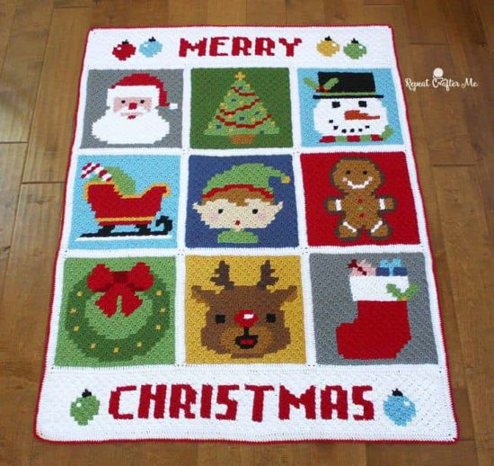 Christmas Crochet Blanket Free Pattern.Gorgeous Christmas Crochet Afghan Free Pattern The Whoot