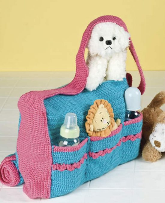 Crochet Baby Bag Free Pattern - You will need to join the site as a member to gain the free download