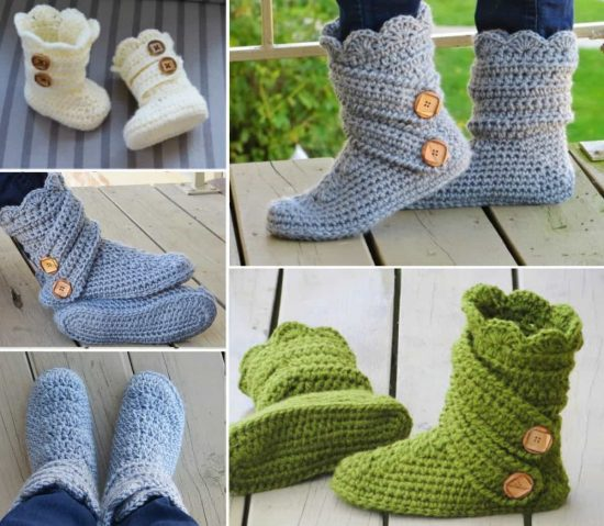 Crochet Slipper Boots Are So Stylish Check Them Out Now