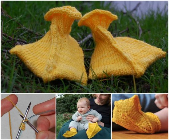 You Ll Love These Knitted And Crochet Duck Booties The Whoot