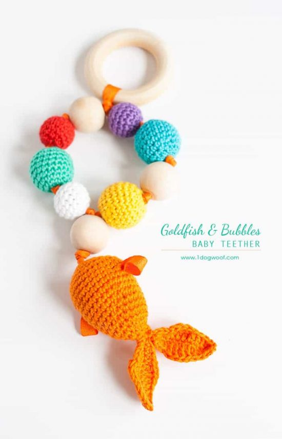 Fish Crochet Teether Free Pattern