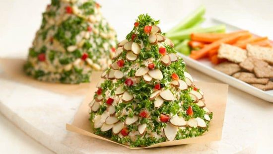 Holiday Christmas Tree Cheese Ball