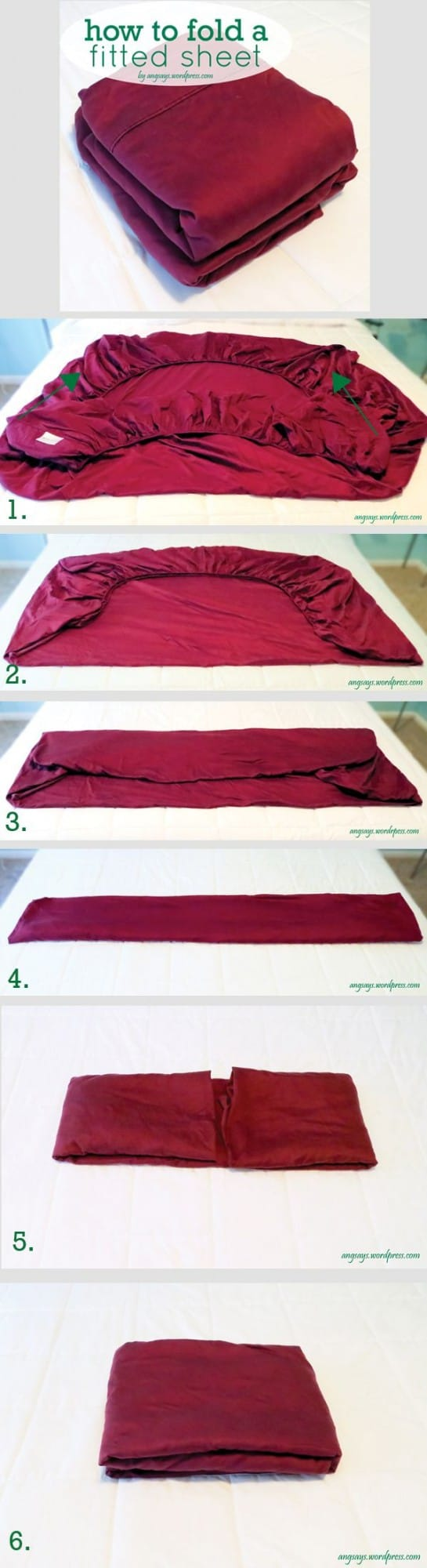 How To Fold A Fitted Sheet Easy Instructions The Whoot
