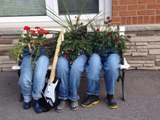 How To Make Denim Jeans Planters The Whoot