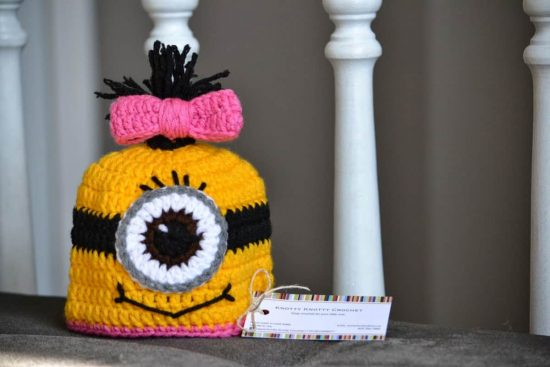 Minion Crochet Hat with Bow Free Pattern